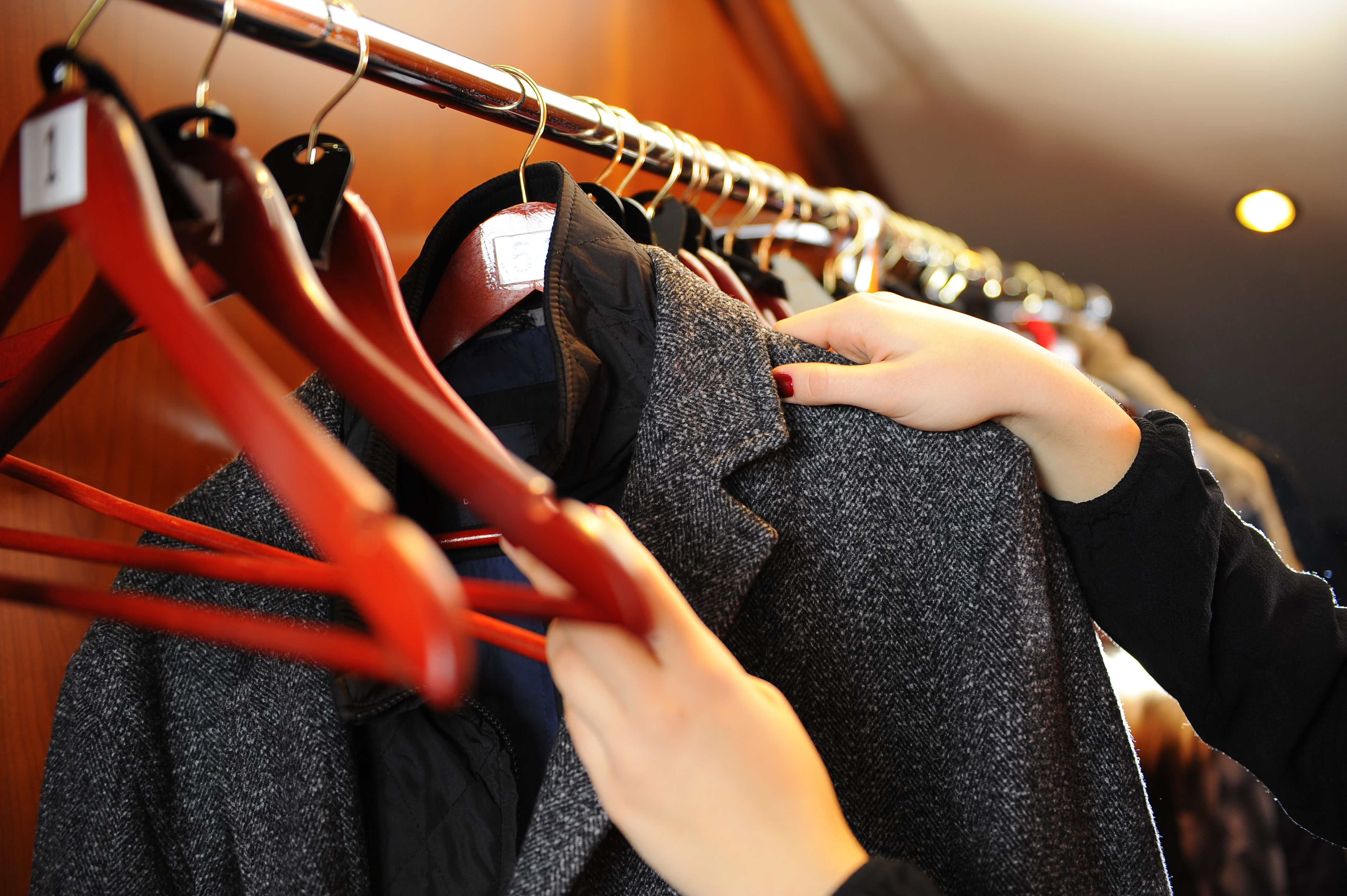 woman choosing what to wear to court