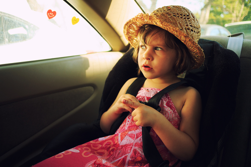 child in hot car